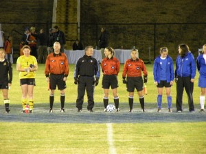 VISOA Referee Danielle Brzezinski  takes charge of the NCAA Division II Semi-Final: Saint Rose vs West Florida.